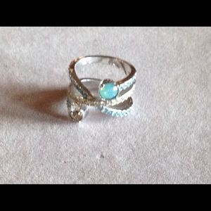 Lia Sophia Jewelry - Sterling Silver Ring with Natural Stones